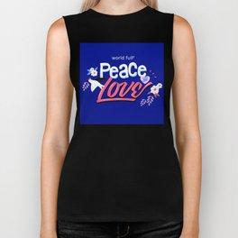 Peace And Love Holiday Invitation Biker Tank