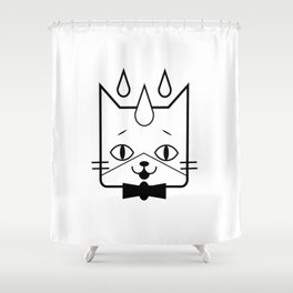 head of a cat vector icon Shower Curtain