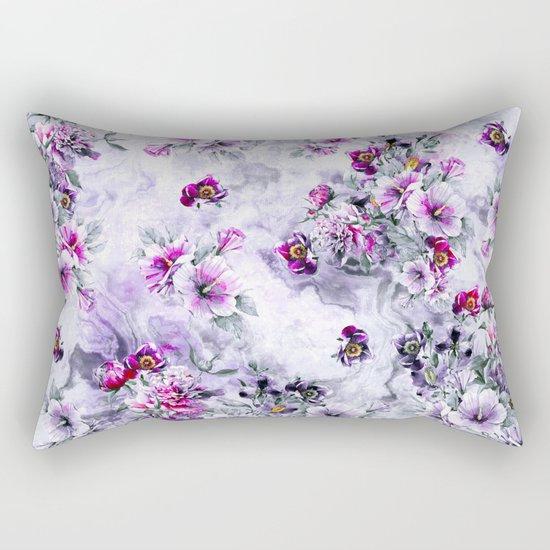 Floral Ocean Soft Rectangular Pillow