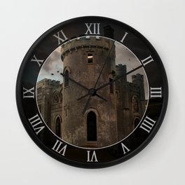 Clifden Castle at the sunset Wall Clock