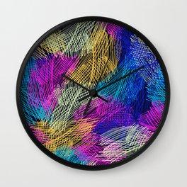 Bright  seamless pattern brush stripped Wall Clock