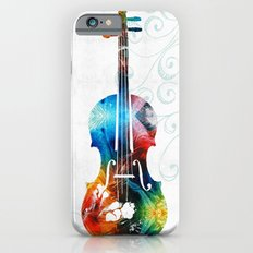 Colorful Violin Art by Sharon Cummings iPhone 6s Slim Case