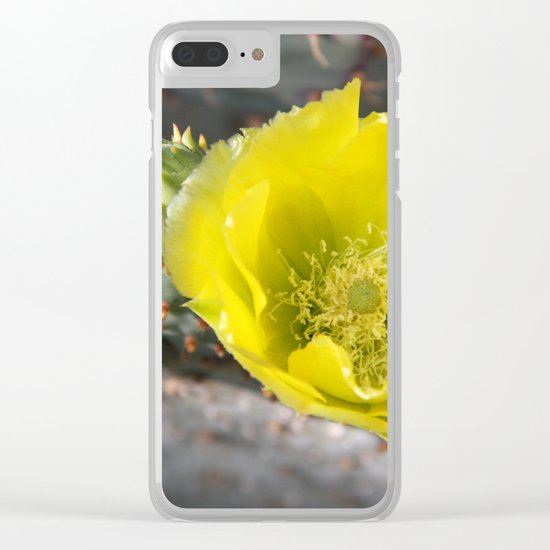 Cactus in bloom Clear iPhone Case