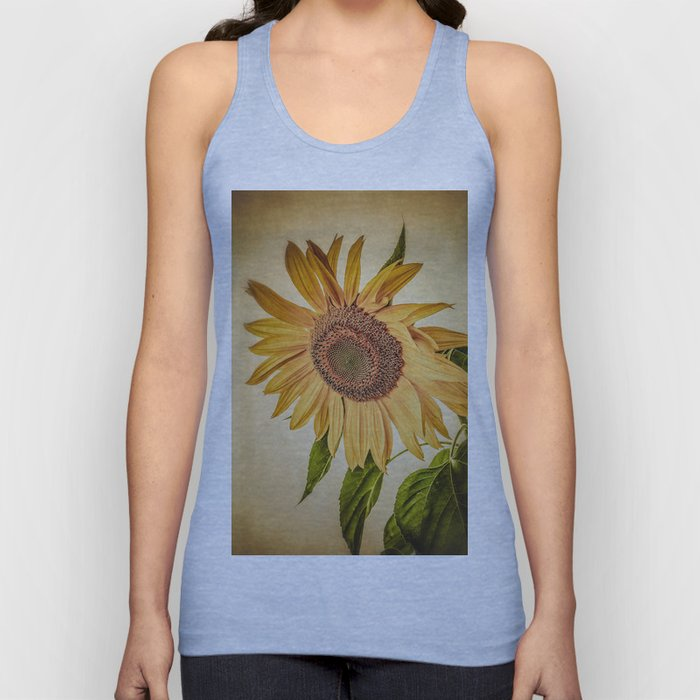 Vintage Sunflower Unisex Tank Top