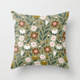 Discreet garden Throw Pillow