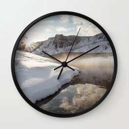 Yellowstone National Park - Bison tracks along the Madison River Wall Clock
