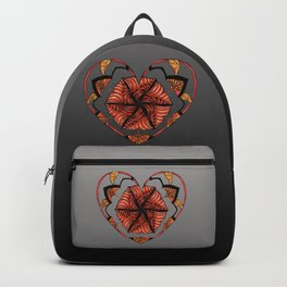 Hearts can be broken but strings will keep them together Backpack
