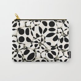 black and white circles in squares Carry-All Pouch