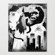 King Kong Sized Writer's Block Canvas Print