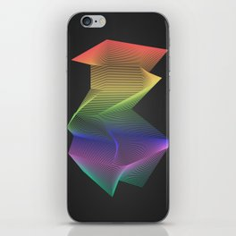 Angular Rainbow iPhone Skin