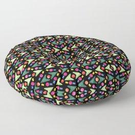Necklaces Rubber Stamps Pattern Design (Black Background) Floor Pillow