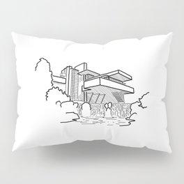 FLW - Falling water Sketch (B) Pillow Sham