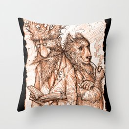 Randil Eadlin and Benjamin Ulfr Throw Pillow