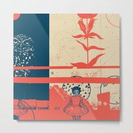 Exploration Fragments Tile 8/12 Metal Print