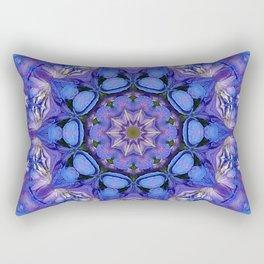 Summer sky Delphinium mandala Rectangular Pillow