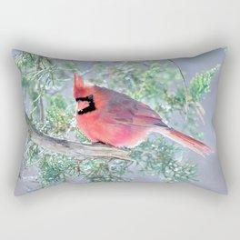 Cold Winter's Day Cardinal Rectangular Pillow