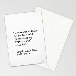 Edgar Allan Poe, Marginalia, I have great faith on fools - Stationery Cards