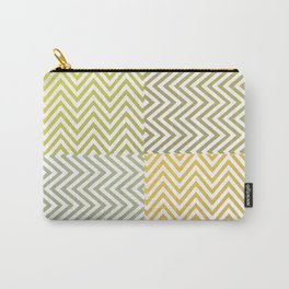 Geometric Lines Pattern Yellowish Carry-All Pouch
