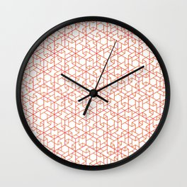 Jali Fusion - Red Wall Clock