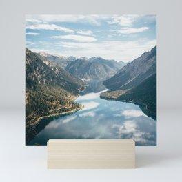 Mountain During Daytime Mini Art Print