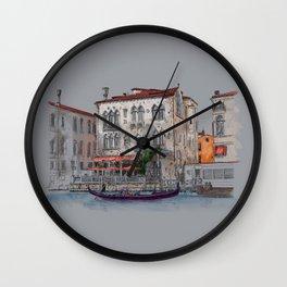 Evening in Italy Wall Clock