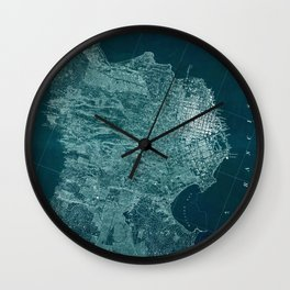Map Of San Francisco 1857 Wall Clock