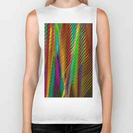 Feathers in Abstract Biker Tank