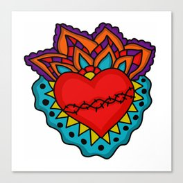 Milagro Corazon Canvas Print