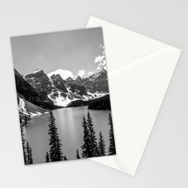 Moraine Lake | Black and White | Landscape Photography | Wildernest Stationery Cards