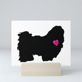 My SHIH TZU Heart Belongs To You Mini Art Print