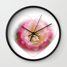 Rose - Double Delight Wall Clock