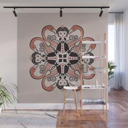 Queen of Hearts mandala Wall Mural