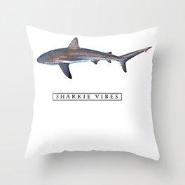 Sharkie Vibes T-Shirt Throw Pillow