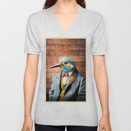 Portrait of Sir Kellen Kingfisher Unisex V-Neck