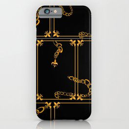 Unchained: Gold + Black iPhone Case