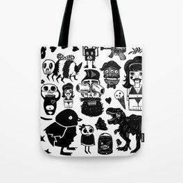 Multi Monsters Tote Bag