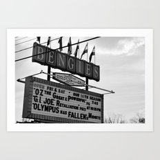 The only Drive in.. in Maryland Art Print