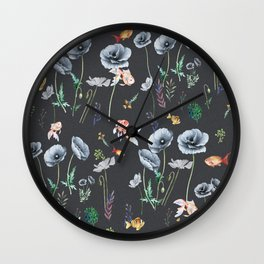 Fishes & Garden Wall Clock