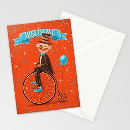 Penny-farthings circus Stationery Cards