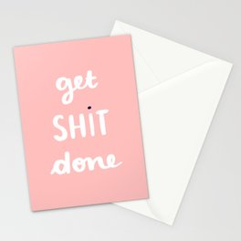 Get Shit Done white edition Stationery Cards