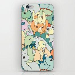 Cute Dino Pattern iPhone Skin