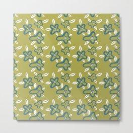 Big artistic painted flower pattern Metal Print