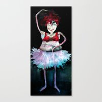 ballerina Canvas Prints featuring Ballerina by clemm