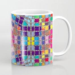 Gemstones and Metal Pentagon Pattern Coffee Mug