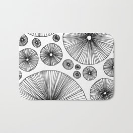 Under the Mushroom Circle Graphic Pattern Bath Mat