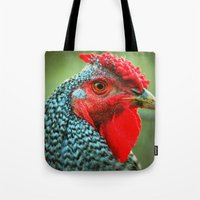 rooster Tote Bags featuring Rooster by Nichole B.