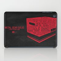 metal gear solid iPad Cases featuring Metal Gear Solid Typography by Kody Christian