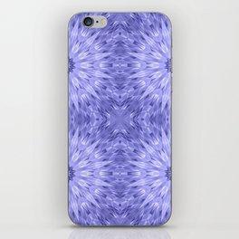 Periwinkle Crystal Mandala Pattern iPhone Skin