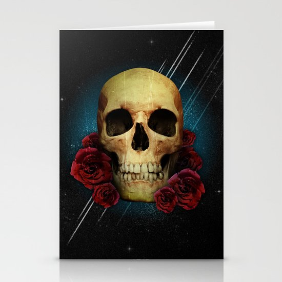 Skull and Roses Stationery Cards