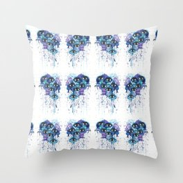 Space Eyes Throw Pillow